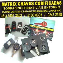 CHAVES CODIFICADAS (61) 9848.8383 / 8143.1001